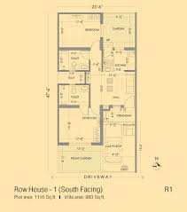 Row House Floor Plans Serene Kshetra Row Houses U0026 Villas In Kanchipuram