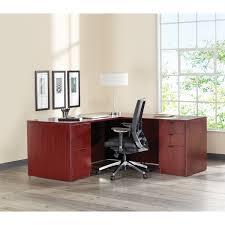 lorell 79000 prominence 79000 series mahogany pedestal desk 60