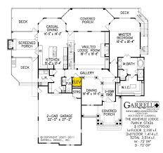 Mountain House Floor Plans by Asheville Lodge House Plan House Plans By Garrell Associates Inc