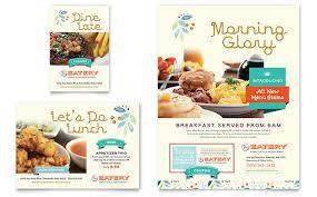 cuisine ad family restaurant flyer ad template design