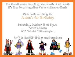 kids halloween party invitation wording scary halloween party