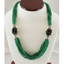 natural stones necklace images Green onyx sterling silver necklace 925 semi precious stone black jpg