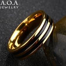 aliexpress buy 2017 wedding band for men 316l aliexpress buy 2017 novelty gold color black glaze ring top