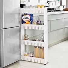 étagère à roulettes cuisine sobuy frg42 w étagère placard alcôve armoires de cuisine chariot