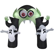 halloween inflateables shop holiday living 8 8 ft x 10 5 ft lighted monster halloween