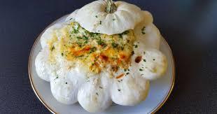 cuisiner du patisson pâtisson farci poulet chignon et gratiné au chaumes recette
