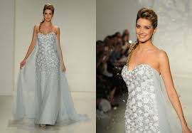 elsa wedding dress frozen wedding dress debuts at bridal fashion week see disney s
