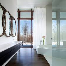 a house in the woods modern bathroom new york by william