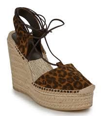 saint laurent sandals nib saint laurent lace up leopard wedge