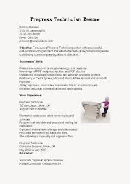 prepress technician resume sample http www resumecareer info