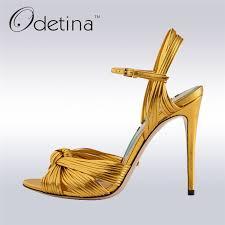 designer stiletto heels odetina 2017 new luxury designer sandals brand summer ankle