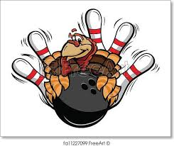 free print of bowling thanksgiving turkey