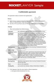 Non Disclosure Statement Template by Non Disclosure Agreement Confidentiality Agreement