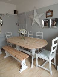 shabby chic dining table vintage hanging chandelier over the