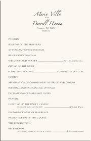 exles of wedding program order for wedding ceremony wedding ideas 2018