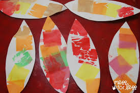 how to make turkey feathers tissue paper turkey craft mess for less