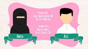 membuat video wedding invitation video wedding invitation moslem couple youtube