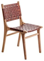 Mid Century Chairs Uk Loiret Woven Leather Dining Chair Midcentury Dining Chairs