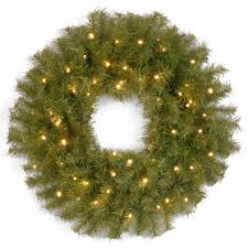 national tree company 24 norwood fir battery operated led wreath