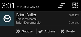 push notifications android cult of android evomail update adds push notification actions