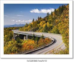 North Carolina how to travel for free images Free art print of blue ridge parkway linn cove viaduct north 0&amp