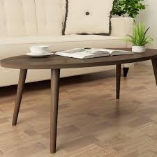japanese style oval coffee table dark walnut lazada singapore
