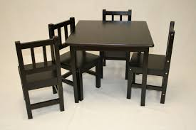 solid wood childrens table and chairs masculine sleek black solid wood childrens tables and chairs for bedroom jpg