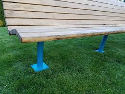 Field Bench Team Benches For Athletic Fields Aluminum Steel And Wood Picture