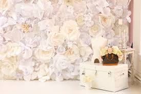 wedding backdrop flowers on trend paper wall flowers wed on canvas live event and