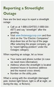 Duquesne Light Power Outage Reporting Street Light Outages