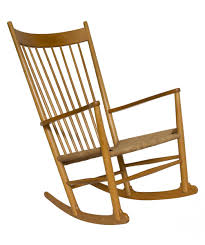Early American Rocking Chair J16 Rocking Chair By Hans Wegner For Fdb 1960s For Sale At Pamono