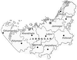 map of rajkot jamnagar district jamnagar district map