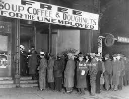 men waiting outside al capone soup kitchen pictures getty images