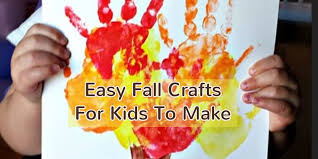 Hand Crafts For Kids To Make - fall crafts for kids easy fall kid crafts for preschoolers