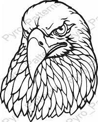 Simple Wood Burning Patterns Free by Eagle Head Bird Pyrography Wood Burning Pattern Printable Stencil