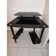 bureau en verre noir bureau turbo en verre trempe noir achat et vente priceminister