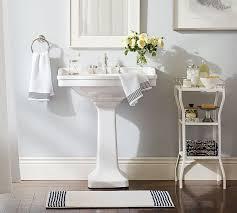 Pottery Barn Bathroom Ideas Striped Dobby Waffleweave Towels Pottery Barn