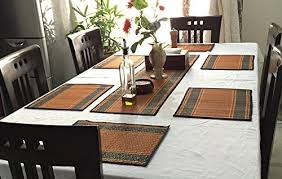 Amazoncom SouvNear Set Of  Placemats  Table Runner Table - Dining room table placemats