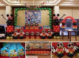 mickey mouse photo booth mickey mouse balloon setup for a christening celebration at