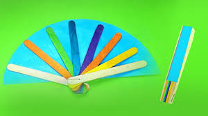 easy diy hand fans using popsicle sticks easy kid crafts youtube