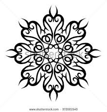 stencil pattern design ornament abstract stock vector