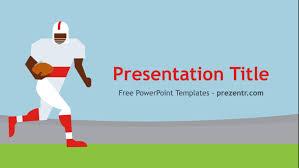 free american football player powerpoint template prezentr