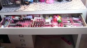 makeup desk storage makeup desk dressing table storage how to fix