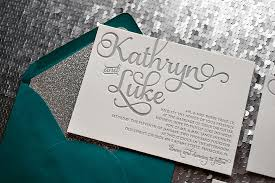teal wedding invitations teal and silver wedding invitations real wedding kathryn and luke