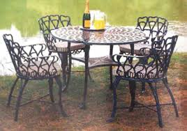 Black Iron Outdoor Furniture by Wrought Iron Garden Furniture Landscaping Gardening Ideas
