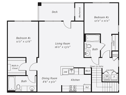 2 Bed 2 Bath Floor Plans Bozzuto