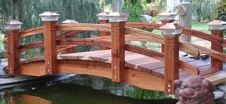yard bridge redwood garden bridges voted best in design and craftsmanship