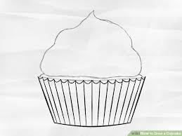 3 ways to draw a cupcake wikihow