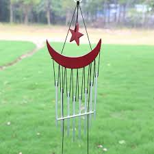 lucky wind chime metal garden ornaments bells alloy