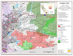 Map Of San Bernardino California Ca Oes Fire Socal 2007